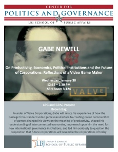 Gabe Newell Austin Talk Flyer
