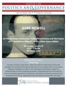Gabe Newell Austin Talk Flyer