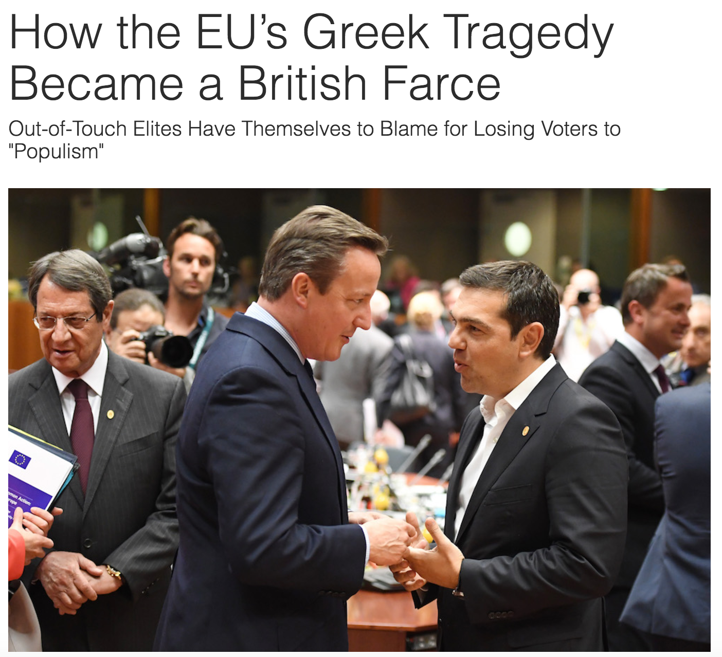 How the eu s greek tragedy became a british farce by for Farcical tragedy
